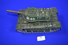 Tinplate M40 Tank by Modern Toys of Japan