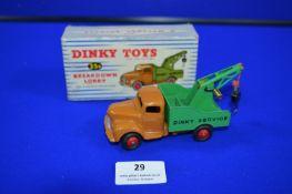 *Dinky Toys 25X Breakdown Lorry in Original Box