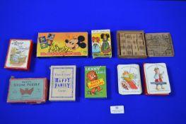 Vintage Card Games, Happy Families, Disney Dominoes, etc.
