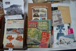 Vintage Bulldozer Catalogues plus Sailing and Flying Books & Ephemera