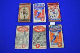 Six Hull Daily Mail Football Annuals 1947 - 1955