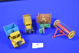 Four Unboxed Vintage Dinky Vehicles