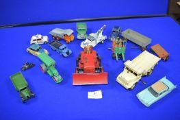 Dinky Bulldozer, Forklift Truck, Steam Roller, etc.