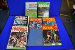 Eight Vintage Soccer Books and Annuals