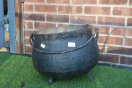 Cast Iron Cauldron with Three Feet