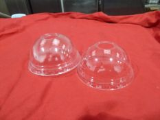 * PET dome top lids with hole x box