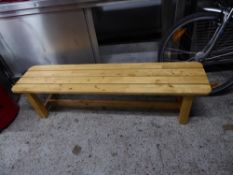 *2 x wooden benches