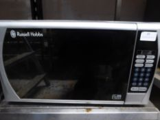 *Russell Hobs 800w silver domestic microwave