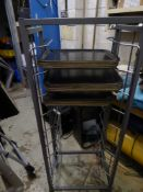 *tray trolly on castors with approx 30 trays 560w x 410d x 1500h