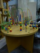*wooden childrens play table withbuilt in bead games