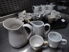 *selection of milk jugs and espresso cups - approx 20 items