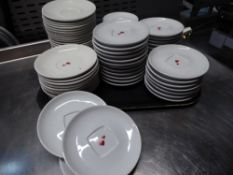 *approx 75 various sized saucers - most wih heart motif