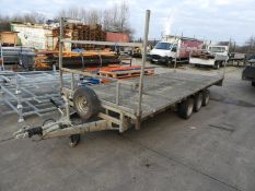 *18ft Flat Bed Trailer on 50mm Ball Coupling Papa-08 (Skinny)