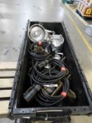 *Box Containing 3 PAR50 and 3 PAR30 Polished Aluminium Lights with Power Supply Cables