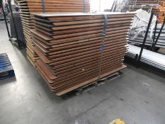 *Pallet Containing 21 Banqueting Tables with Folding Legs 90x180cm