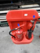 *Fire Extinguisher Station with Water and CO2 Fire Extinguishers