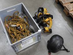 *Box Containing Petzl Climbing Equipment; Safety Harness and Helmet
