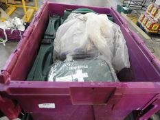 *Box Containing 6 First Aid Kits and Assorted First Aid Supplies