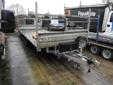 *18ft Flat Bed Trailer on 50mm Ball Coupling Papa-07