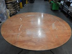 """*Four 5'6"""" Circular Banqueting Tables with Folding Legs"""