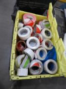 *Box Containing Assorted Adhesives Tapes, Warning Tapes, etc.