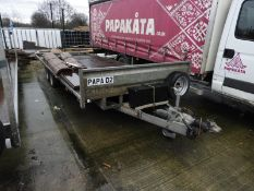 *18ft Flat Bed Trailer on 50mm Ball Coupling Papa-02 (Coffin)