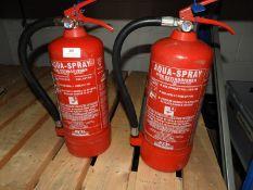 *Two Aquaspray Water Fire Extinguishers