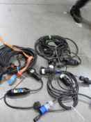*Box of Assorted Power Supply Cables, RCDs, etc.