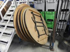 """*Five 5'6"""" Circular Banqueting Tables with Folding Legs"""