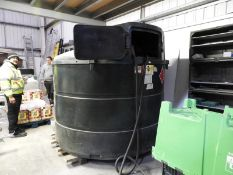 *Bunded Red Diesel Storage Tank with Atkinson Electric Fuel Delivery Pump and Meter