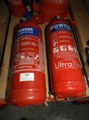*Two Dry Powder Fire Extinguishers