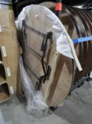 """*Two New 5'6"""" Circular Banqueting Table with Folding Legs"""