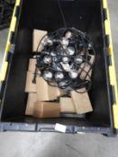 *10m Length of LED Festoon Lighting with Power Supply Cables, LED Light Bulbs, etc.