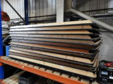 *Twelve Folding Trestle Style Tables 90x180cm