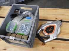 *Box Containing Repair Kits, Nuts, Bolts, Wing Nuts, Zip Ties, and a 50m Tape Measure