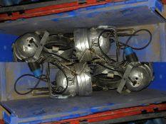 *Six PAR50 Polished Aluminium Lamps