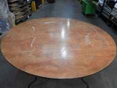 *Nineteen 5ft Circular Banqueting Tables with Folding Legs