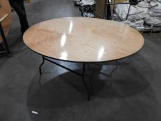 *Fifteen 6ft Circular Banqueting Table with Folding Legs