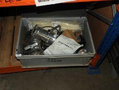 *Box Containing PAR30 Polished Aluminium Lights , Tie Wraps, etc.