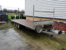*18ft Flat Bed Trailer on 50mm Ball Coupling Papa-01
