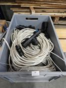 *Box Containing Ten 16A Power Leads with Plus, Sockets, and Junction Boxes