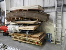 *Quantity of Assorted OSB, Plywood and Cardboard Sheet Material