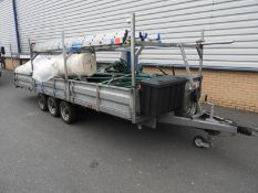 "*Wessex Trailers Limited Tri Axel Drop Side Trailer (18ft x 6'8"" Body) with H-Frames and Drop Sides"
