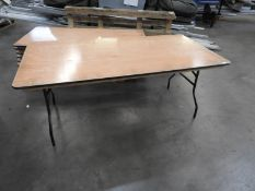 *Eight 90x1800 Trestle Style Tables with Folding Legs