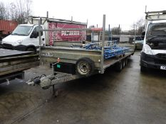 *18ft Flatbed Trailer on 50mm Ball Coupling Papa-09