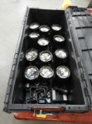 *Crate Containing Three 4 Par-38 Spotlights on Rail