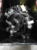 *Crate Containing 4x10m of Festoon Lighting with Clear LED Bulbs