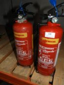 *Two Wet Chemical Water Fire Extinguishers