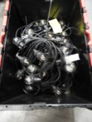*Crate Containing 5x10m of Festoon Lighting with Clear LED Bulbs