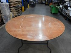 *Nine 6ft Circular Banqueting Tables with Folding Legs